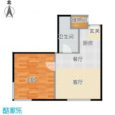 国融国际购物中心a13户型一室二厅一卫户型
