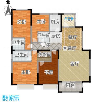 天安珑园02户型4室1厅3卫1厨