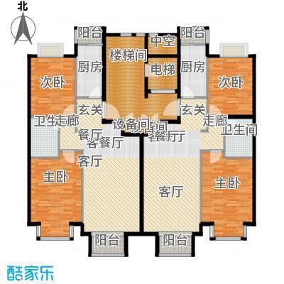 润泽悦溪88.00㎡C标准层户型4室2厅2卫2厨
