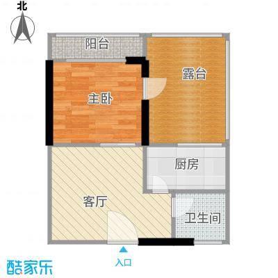 城市风景三期户型1室1厅1卫1厨