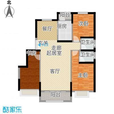 中铁诺德名苑128.00㎡L户型3室2厅2卫