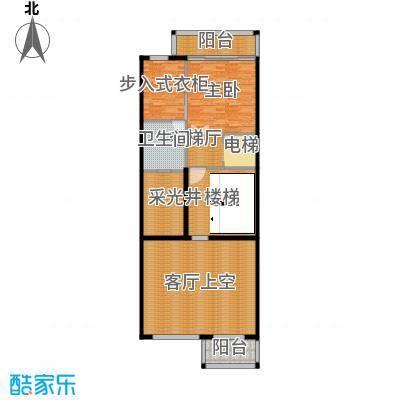 皇马郦宫140.00㎡A二层平面户型1室1卫