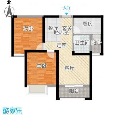 中铁诺德名苑88.00㎡A户型2室2厅1卫