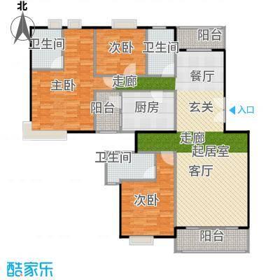 金色华庭(新中银二期)户型3室3卫1厨