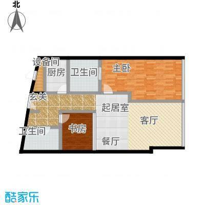 C-PARK西派国际公寓141.14㎡E户型二室二厅二卫户型