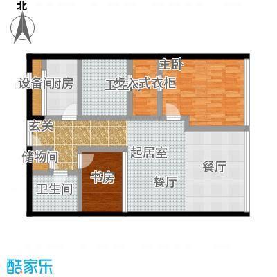 C-PARK西派国际公寓126.02㎡C户型二室二厅二卫户型
