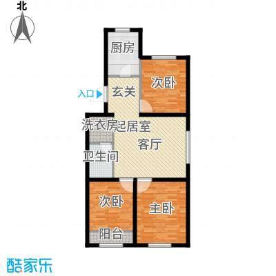 上庄三嘉信苑89.00㎡J2东户型10室