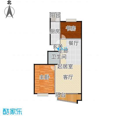 万润家园99.99㎡2室-2厅-1卫-1厨户型