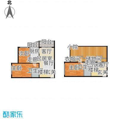 万润家园135.65㎡3室-3厅-2卫-1厨户型