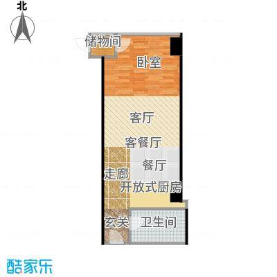 锐创国际中心69.30㎡海豚湾D一居室户型10室