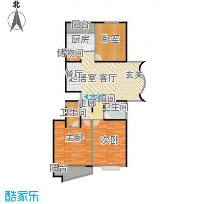 万润家园137.36㎡3室2厅2卫户型