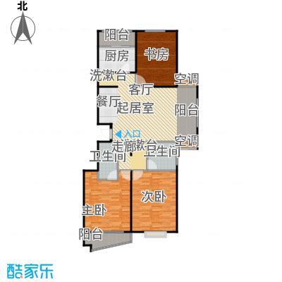 万润家园122.10㎡3室2厅2卫户型