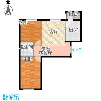 上庄三嘉信苑70.00㎡J6户型10室