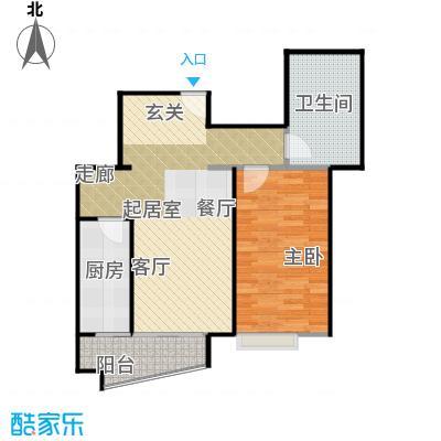 万润家园67.62㎡1室-2厅-1卫-1厨户型
