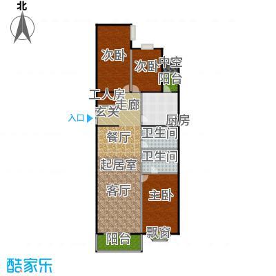 瑞景嘉园(太阳国际公馆)183.00㎡三室两厅两卫户型