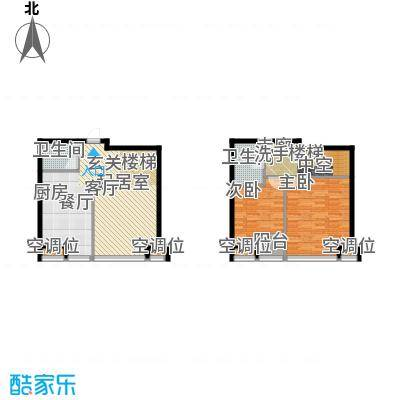 UHN国际村4号楼H户型跃层户型