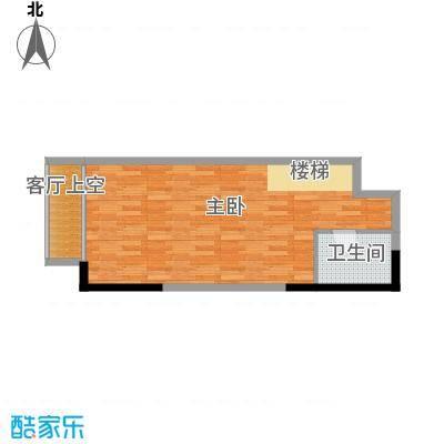 青年工社43.71㎡B夹层户型1室1卫