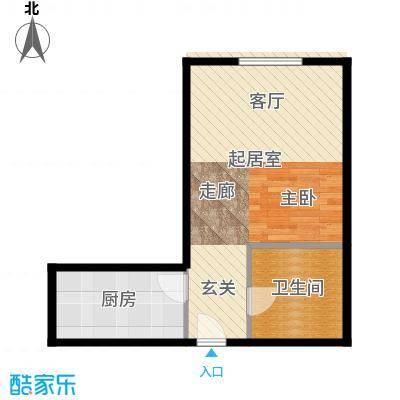 cross朗廷44.47㎡05效率空间一居室户型10室