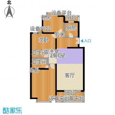世桥国贸公寓145.69㎡三室两厅两卫户型