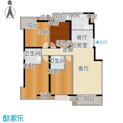 上海沙龙148.43㎡四室二厅二卫户型