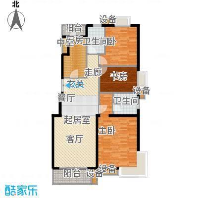 上海沙龙118.31㎡三室二厅二卫户型