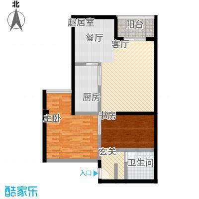 新青年公寓89.05㎡B座D型户型