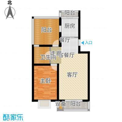 乐东馨园A'-1室2厅1卫 77.78㎡户型