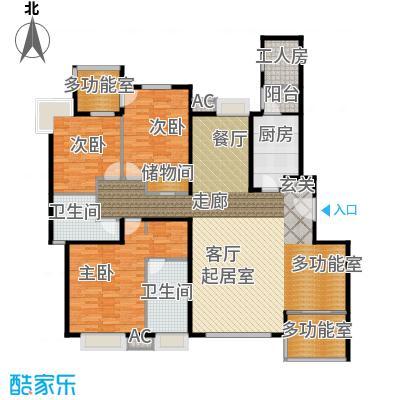 融科橄榄城184.42㎡4E四室两厅两卫户型