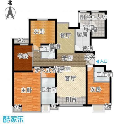 融科橄榄城191.06㎡4D四室两厅两卫户型