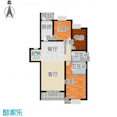 珠江骏景160.00㎡3号楼01户型三居户型