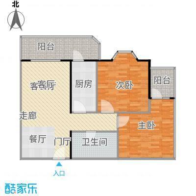 静馨嘉苑95.69㎡二室二厅一卫户型
