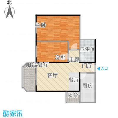 静馨嘉苑88.00㎡二室一厅户型