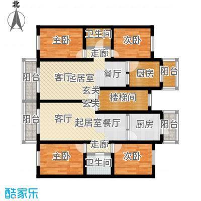 新月家园103.00㎡二居室户型