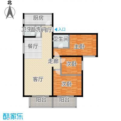 和义西里小区118.80㎡三室两厅两卫户型LL
