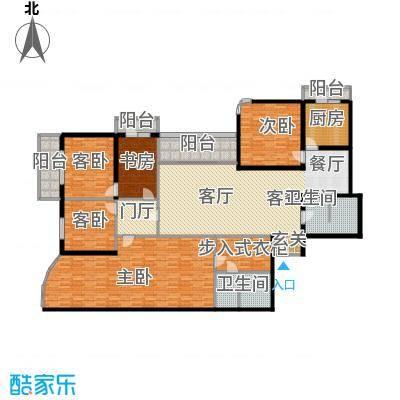 城市芳庭231.37㎡五室三厅二卫户型