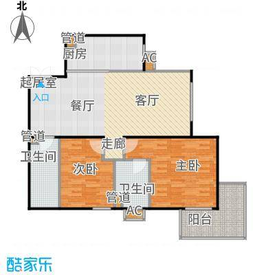 方南家园(二期)105.83㎡2室2厅2卫户型