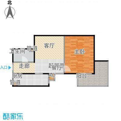 方南家园(二期)69.82㎡1室1厅1卫1厨户型