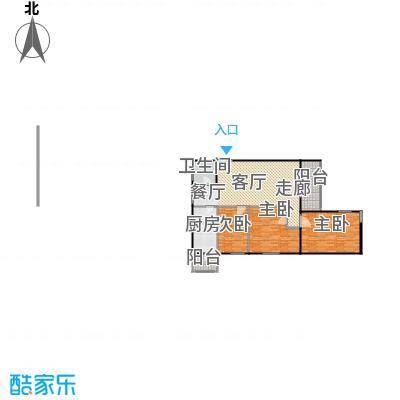 西马小区97.00㎡三室一厅户型