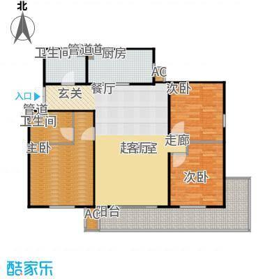 方南家园(二期)141.07㎡3室2厅2卫户型