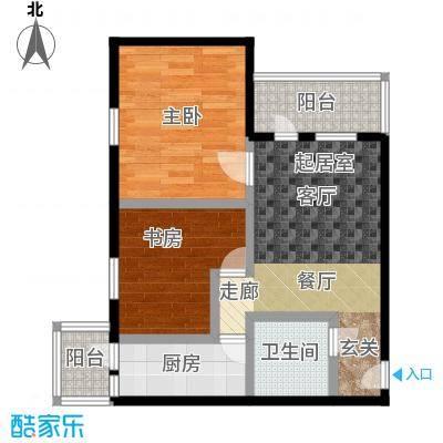 康泽园64.00㎡二室一厅一卫户型