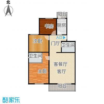 政洋家园116.80㎡3室1厅2卫1厨户型