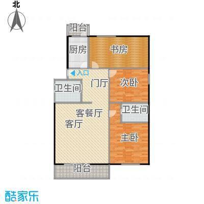 政洋家园123.91㎡3室1厅1卫1厨户型