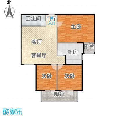政洋家园111.51㎡3室1厅1卫1厨户型