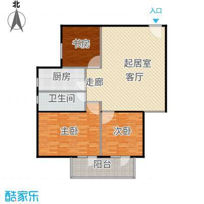 政洋家园115.75㎡3室1厅1卫1厨户型