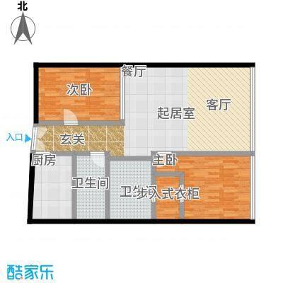C-PARK西派国际公寓140.42㎡D户型二室二厅二卫户型