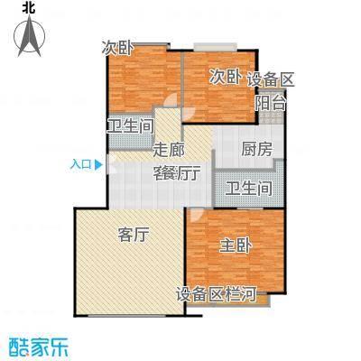 中海凯旋171.22㎡三室二厅二卫户型