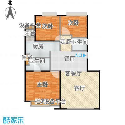 中海凯旋171.20㎡三室二厅二卫户型