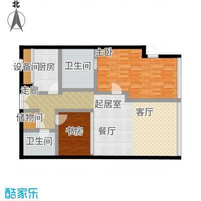 C-PARK西派国际公寓132.64㎡B户型二室二厅二卫户型