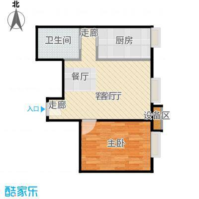 中海凯旋79.99㎡一室一厅一卫户型