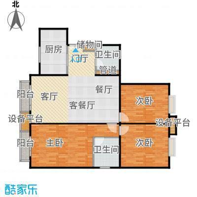 中海凯旋174.53㎡三室二厅二卫户型